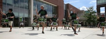 the drummers had detailed the whole routine in one day. from day two.