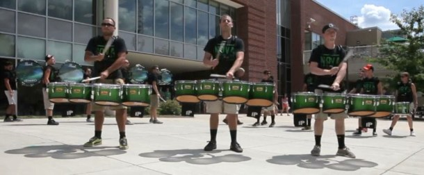 quad drummers crossing over, day two take.