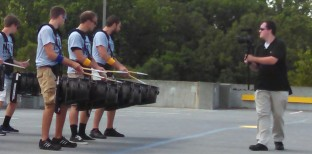 glide camming quads as they play on others' drums