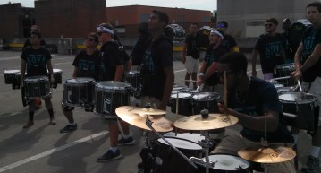 kit player chokes cymbals after last picture
