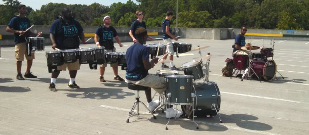 two drumset and battery