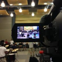 first hour of rehearsal, through lenses