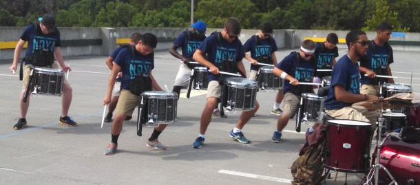 snares mid-feature, with kit